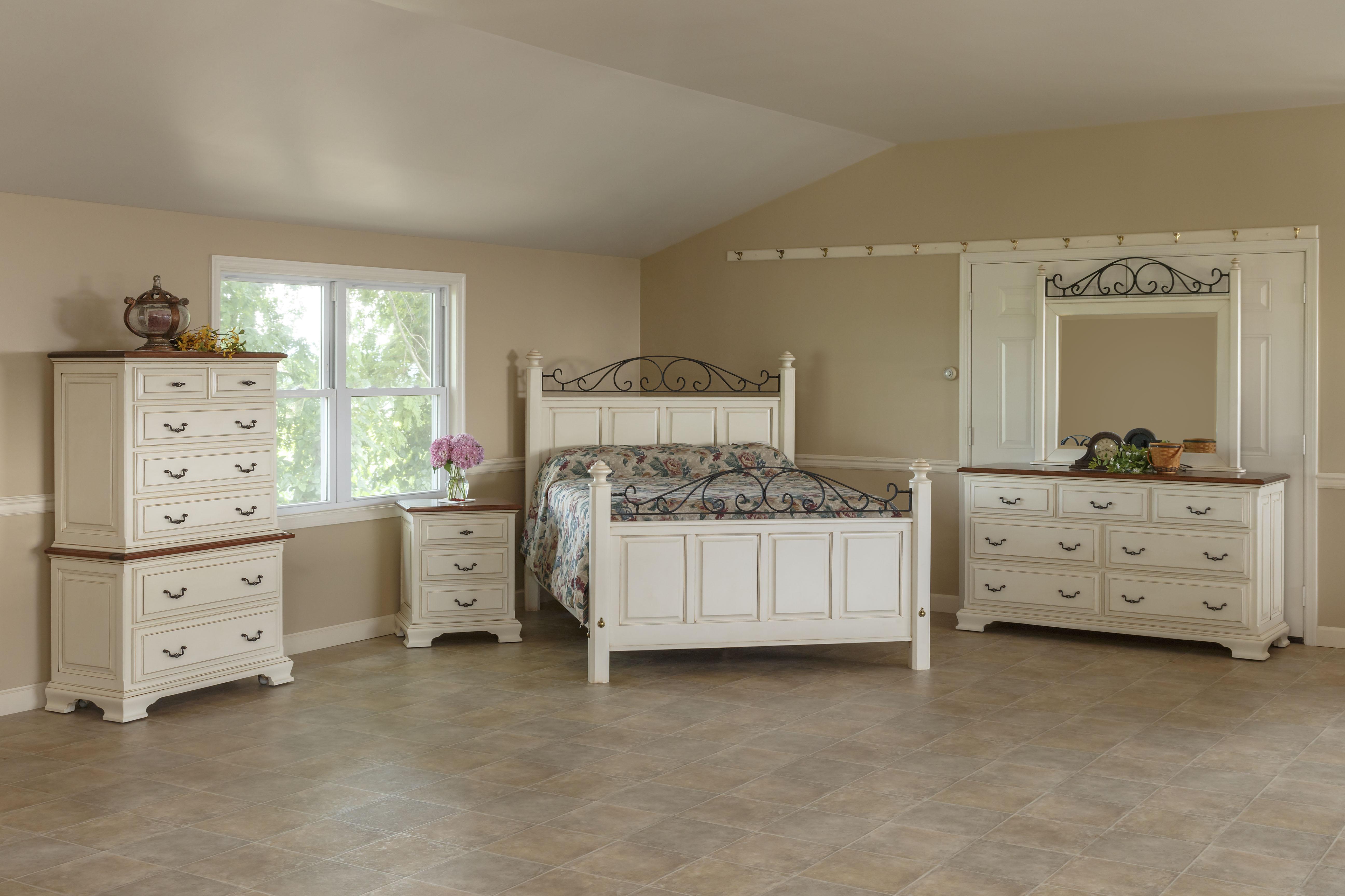 6 Piece Cambridge Bedroom Suite w/Cherry Tops -- Sold around 12 Noon
