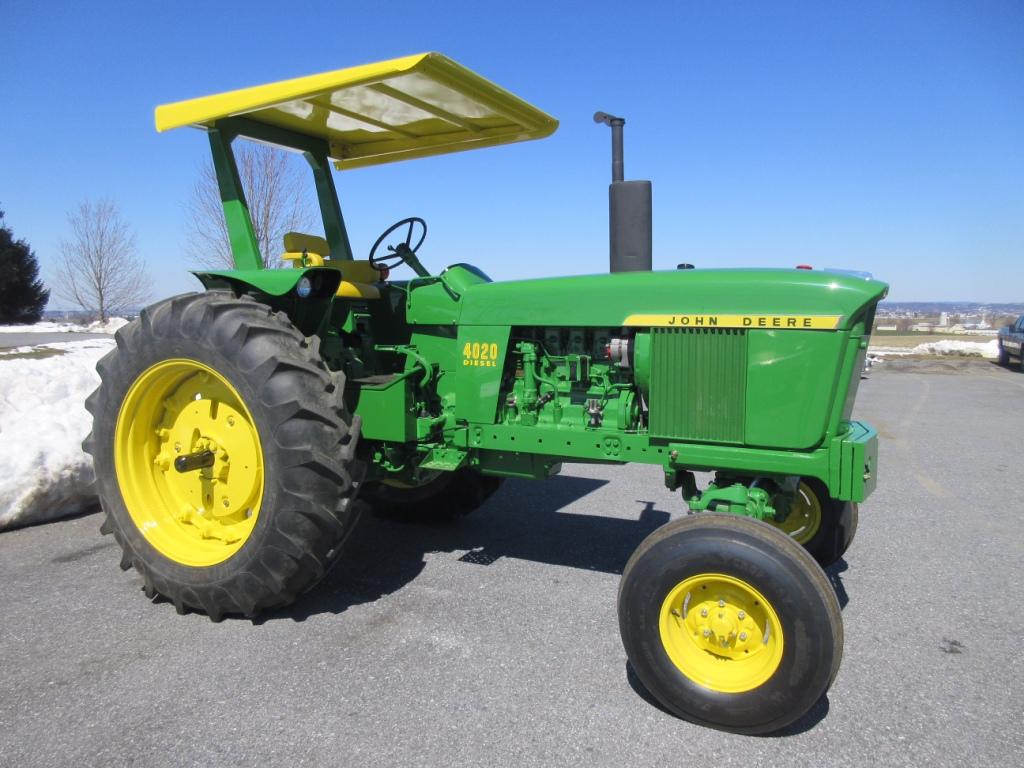 john deere 4020 diesel tractor with canopy; serial 252209r pa John Deere Canopy Parts \